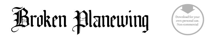 Broken planewing - Font
