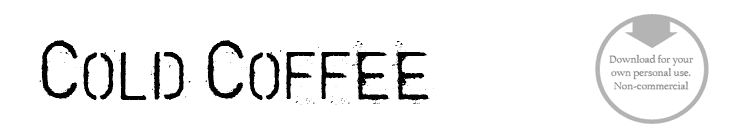 Cold Coffee - Font
