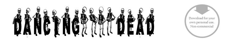 Dancing dead - Font