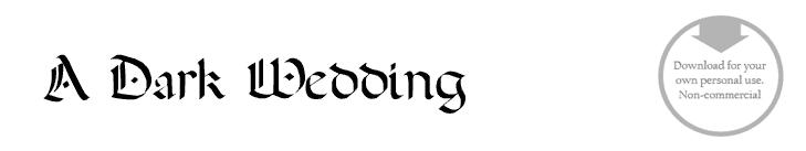 Adark wedding - Font