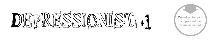 Depressionist 1 - Font
