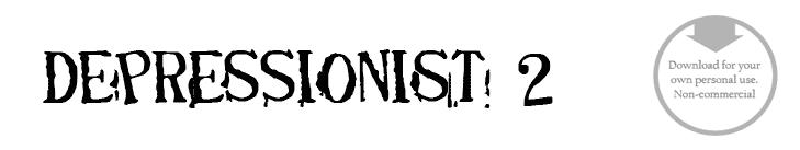 Depressionist 2 - Font