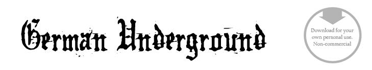 German Underground - Font