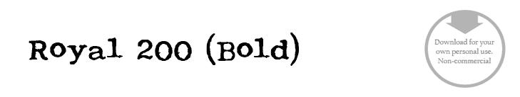 Royal 200 (Bold) - Font