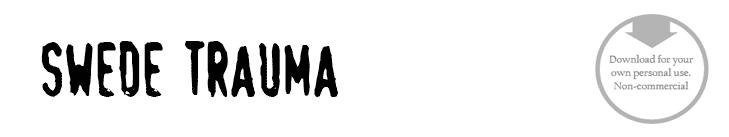 Swede Trauma - Font