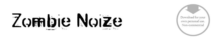 Zombie-Noize - Font